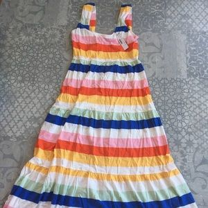 Jcrew midi striped dress NWT